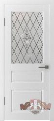"""Дверь межкомнатная """"Честер"""" белая эмаль со стеклом"""
