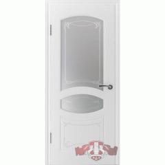 """Дверь межкомнатная """"Версаль"""" белая эмаль со стеклом"""