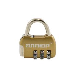 Замок навесной АЛЛЮР ВС1К-35/4 (HA806) GP золото кодовый d=4мм
