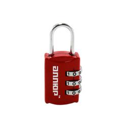 Замок навесной АЛЛЮР ВС1К-22/3 (HA816) красный кодовый d=3мм