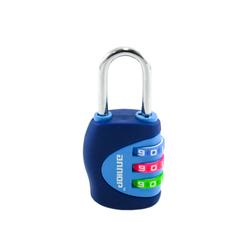 Замок навесной АЛЛЮР ВС1К-27/4 (F5) синий кодовый d=4мм