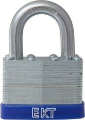 Замок навесной ЕКТ С-103704 ламинированный, оцинков., 40 мм, 2 кл., d-6 мм