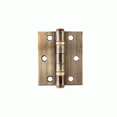 Петля дверная 2 шт Аллюр 20325 2BB-FHP AB 2 подш.,ст.бронза 77х64