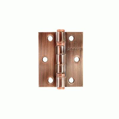 Петля дверная Аллюр 2 шт 20325 2BB-FHP AC 2 подш.,ст.медь 77х64
