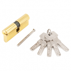 Цилиндровый механизм Стандарт F-01 75(30х10х35) GP 5кл золото перф. ключ/ключ