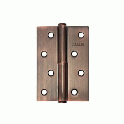 Петля дверная 2 шт Аллюр 2543 L1-LH-AC медь Л 100х70