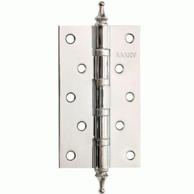 Петля дверная 2 шт Аллюр 2553 4BB-CHP CP 4 подш.,коронка хром 127х76