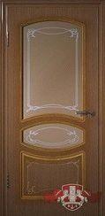 Шпонированная межкомнатная дверь Версаль остекленная
