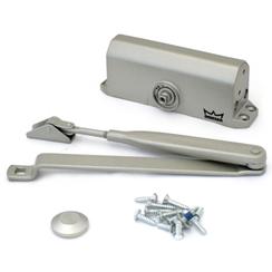 Доводчик дверной DORMA TS 77 EN 3 до 80 кг. c рычагом серебро