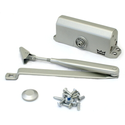 Доводчик дверной DORMA TS 77 EN 4 до 120 кг. c рычагом серебро