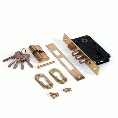 Замок без ручки Апекс 1000/60-G золото с ц/м м/о 61,5