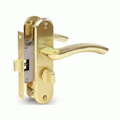 Защёлка с фиксацией и ручками 5526-WC-AL-GM/G мат.золото/золото