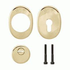 Броненакладка на цилиндр MOTTURA 94 KIT 1101/P (set: 94.11625 + 94.505 + 95.304 + 95.308+99.293/90), золото