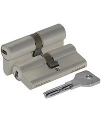 Цилиндровый механизм Cisa (Чиза) ASIX OE300-32.12 (90 мм/30+10+50), НИКЕЛЬ