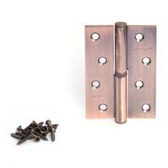 Петля дверная 2 шт. Апекс 100*70-B-Steel-АС-R правая медь