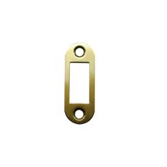 Ответная планка АЛЛЮР АРТ SP20R1 SBP мат.золото овал.20мм для защелок