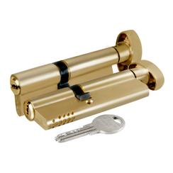 Цилиндровый механизм Kale kilit (Кале килит) с вертушкой 164 SH/80 (35+10+35) mm латунь 5 кл., винт 70 мм