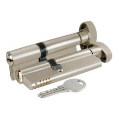 Цилиндровый механизм Kale kilit (Кале килит) с вертушкой 164 SH/85 (40+10+35) mm никель 5 кл., винт 70 мм