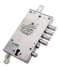 Замок врезной Mottura (Моттура) двухсистемный 54.J787-D MyKey (правый) перекодировка с торца, ключ 60 мм