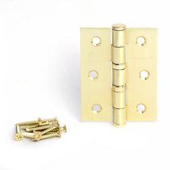 Петля дверная 2 шт. Апекс 80х60-B2-Steel-GM мат.золото 2 подшип.