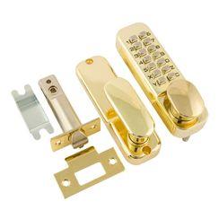 Кодовый замок с фиксатором 201 Нора-М золото