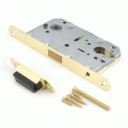 Замок врезной Апекс магнитный без ручки 5300-МС-GM мат.золото без ц/м м/о 85мм