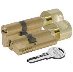 Цилиндровый механизм Kale kilit (Кале килит) с вертушкой 164 OBS SCE/72 (30+10+32) mm латунь 5 кл.