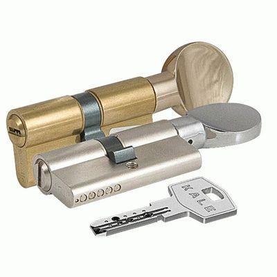 Цилиндровый механизм Kale 164 BM/75 30х10х35 никель плоск.верт перфорированный ключ
