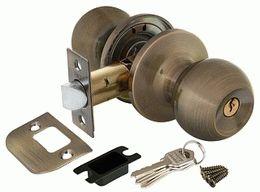 Ручка защелка PUNTO 6072 AB-E (ключ/фиксатор) бронза