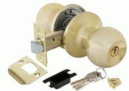 Ручка защелка PUNTO 6072 SB-E (ключ/фиксатор) мат. золото