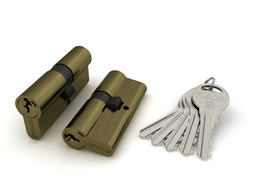 Цилиндровый механизм Fuaro (Фуаро) R300/60 mm-BL (25+10+25) AB бронза 5 кл. БЛИСТЕР