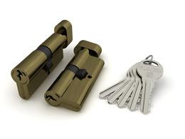 Цилиндровый механизм Fuaro (Фуаро) с вертушкой R302/60 mm-BL (25+10+25) AB бронза 5 кл. БЛИСТЕР