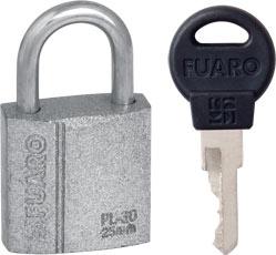 "Замок Fuaro (Фуаро) навесной PL-3025 (25 мм) 2 ""англ."" кл. БЛИСТЕР"