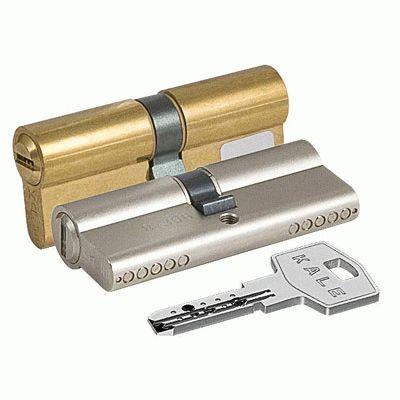 Цилиндровый механизм Kale 164 BN/90 40х10х40 никель перфорированный ключ