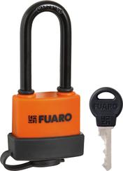 "Замок Fuaro (Фуаро) навесной PL-3640 LS (40 мм) 3 ""англ.""кл. (удлиненная дужка) БЛИСТЕР"