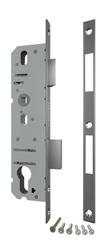 Корпус Fuaro (Фуаро) узкопрофильного замка с защелкой 4916-25/92 CP (хром) межосев. расст. 92 мм