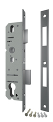Корпус Fuaro (Фуаро) узкопрофильного замка с защелкой 4924-25/92 CP (хром) межосев. расст. 92 мм