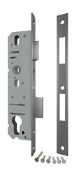 Корпус Fuaro (Фуаро) узкопрофильного замка с защелкой 4924-30/92 CP (хром) межосев. расст. 92 мм