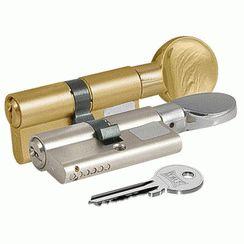 Цилиндровый механизм Kale 164 GM/68 26х10х32 никель плоск.вертушкой английский ключ