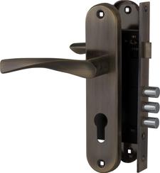 Корпус Fuaro (Фуаро) замка в комплекте с ручкой SET F1511W/B AB