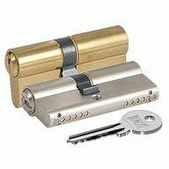 Цилиндровый механизм Kale 164 GN/68 26х10х32 никель английский ключ
