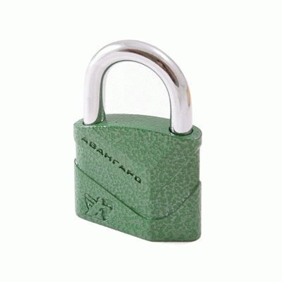 Замок навесной Авангард ВС2Д-50 ДИСКО зеленый d8мм