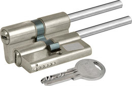 Цилиндровый механизм Kale kilit (Кале килит) под вертушку (дл.шток) 164 SX/86 (50+10+26) mm никель 5 кл.