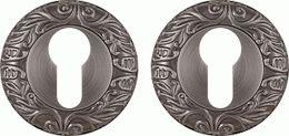 Накладка под цилиндр FUARO ET SM AS-3 античное серебро