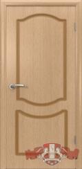 Шпонированная межкомнатная дверь Классика глухая