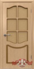Шпонированная межкомнатная дверь Классика остекленная