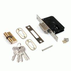 Замок врезной Апекс без ручки 94-H/60-CR (940 M) краб 5 ключей