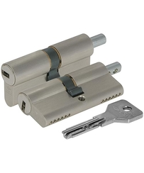 Цилиндровый механизм Cisa (Чиза) под вертушку ASIX OE302-85.12 (80 мм/40+10+30), НИКЕЛЬ