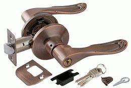 Ручка защелка PUNTO 6030 AC-E (ключ/фиксатор) медь