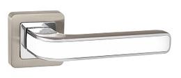 Ручка раздельная Punto (Пунто) NOVA QR SN/WH-19 мат.никель/белый